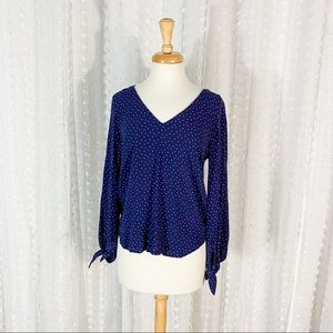 Anthropologie Maeve Pernille Tie Sleeve Blouse